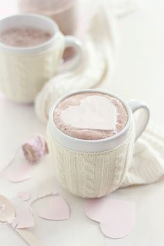 You melt my heart (cocoa with whipped cream hearts!)