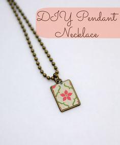 Easy DIY Pendant Necklace