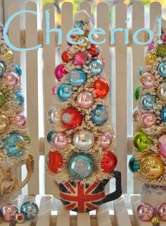 holiday, christma bottl, bottle brush trees, bottl brush, british christmas, christma tree, brushes, bottles, christmas trees