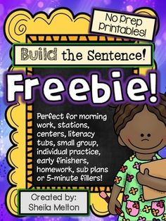 Build the Sentence FREEBIE! I hope your students enjoy these printable worksheets using words and themes all about months of the year! Black and white NO PREP printables are ready for you to print and go! #buildthesentence #tpt #freebies #sheilamelton