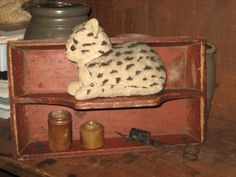 Early Spotted Kitten..........Cotton Stuffed....Wool.................