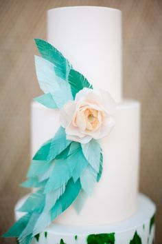 beauti cake, wedding cakes, feather