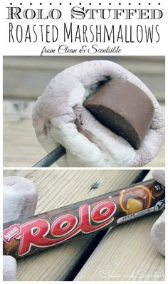 Rolo stuffed roasted marshmallows - SO good!!!