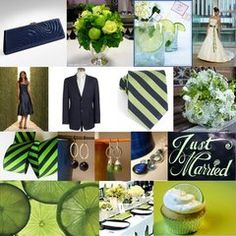 Love the green and blue ties for the boys!!    Think limes for cute and inexpensive decorations...sliced fresh limes in large clear vases, key lime cup cakes or pies!