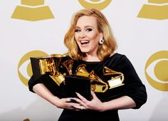 Adele & her grammy's. <3