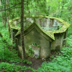 abandoned garden, secret gardens, ruin, place, round house