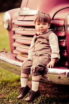 ADORABLE. I want to take him home with me!!     This truck at Cedarwood makes for the best pictures ever!