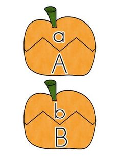 """""""Playful Pumpkins"""" includes two activities for your students to complete during your fall, Halloween, harvest, or pumpkin thematic units! There is one math activity for numeral identification, counting with one-to-one correspondence, and numeral to set matching PLUS one reading activity for letter identification and matching of uppercase and lowercase letters. $2.00"""