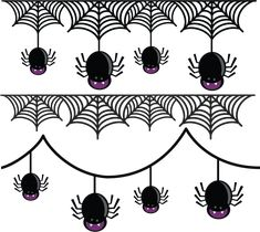 Spider Borders SVG cut files for scrapbooking paper crafts halloween scal cutting files