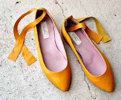 Hand made Leather Flats