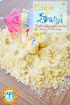 Edible Sand Sensory Activity from A Little Pinch of Perfect
