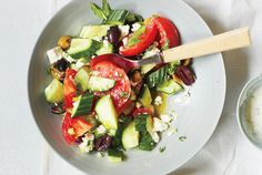 cucumber . tomato . feta salad