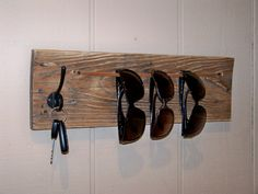Sister's Reclaimed Wood Sunglasses and Keys Holder by RusticWoodOriginals, $35.00