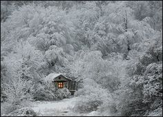 cottag, winter cabin, little cabin, fairy tales, snow, winter wonderland, cabins, winterwonderland, place