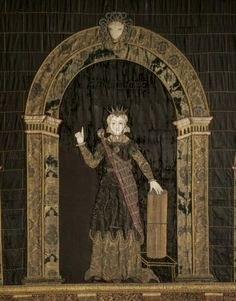 The virtuous Penelope, in an appliqué wall hanging in the Hall at Hardwick Hall. ©National Trust Images/John Hammondbyshire
