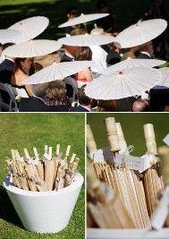 wedding parasols rather than a tent