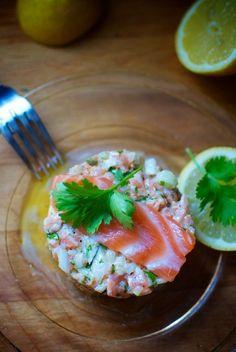 Tartar de salmón con jengibre de Pepekitchen, para el blog 'A tu Gusto' de superSol. La mejor gastronomía :)