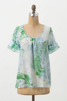 Marbled Blouse #anthropologie