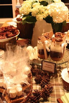 s'mores themed party- too cute!