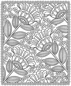 Flowers doodles to color in, dover publications, colorful flower drawings, floral color, floral designs, coloring sheets, printable zentangle patterns, coloring books, flower patterns