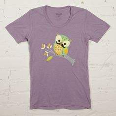 Mustachioed Owl tee from GAMAGO