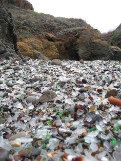 Ft. Bragg CA, glass beach