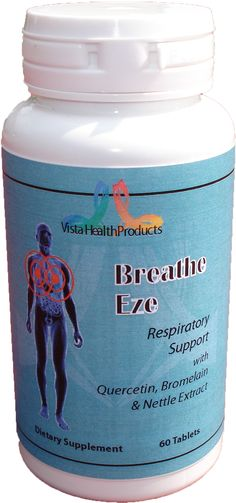 Breathe Eze™ is a synergistic combination of key vitamins, minerals and herbal extracts that nutritionally support healthy respiratory functions. Breathe Eze™ is a combination of herbs helping the lungs to clear mucus and free breathing. It has also been known to help with breathing, asthma, bronchitis, coughing, wheezing, including dry or moist cough, and heaviness in the chest.