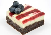 Stars and Stripes Cream Cheese Brownies Recipe
