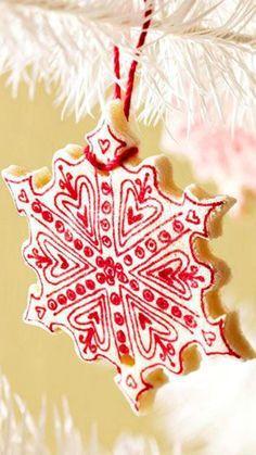 DIY Christmas Salt Dough Ornaments Recipe ~festive and kid-friendly