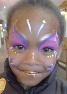 Simple designs face paint on pinterest face paintings for Fairy painting easy