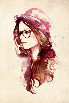 Linda aquarela! draw, hipster, sketch, art prints, artist, avril lavigne, sarah bochaton, illustr, portrait