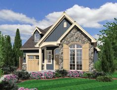 Mascord House Plan 21105 - The Sherwood