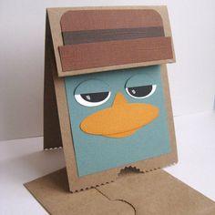 cute Phineas & Ferb gift bag idea.