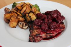 Low Carb Pork Chops with Blackberry Sauce