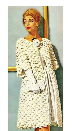 Crocodile Stitch PDF Pattern  60's MOD Crochet by KinsieWoolShop, $3.20