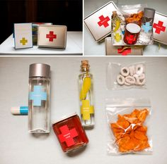 """""""Relief Kit"""" favor to hand out to your hard core friends that stay until the bitter end of your reception with you!"""