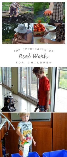 Valuable insights into engaging children in the real work that is a part of our daily lives...