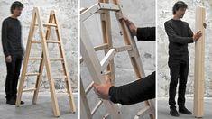Folding Ladder, génial très peu d'espace requis pour le rangement!