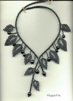 Leaves Necklace tutorial