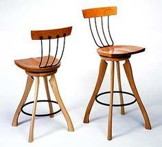 Pitchfork Swivel Chair by Brad Smith. Wood Chair available at www.artfulhome.com