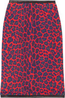 fashion, ponté skirt, leopardprint ponté, skirts, christopher kane, leathertrim leopardprint, kane leathertrim, christoph kane, kane skirt
