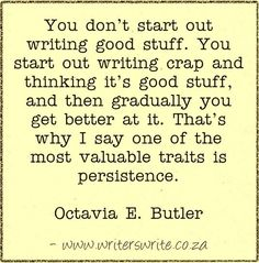 Quotable - Octavia E. Butler - Writers Write