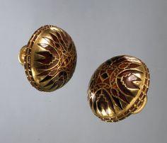 Gold, garnet - Sutton Hoo ship burial, Suffolk (British Museum)