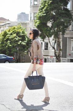 Spring-y #work #patterns #pants #blazer #handbag