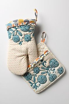 Cute oven mitts