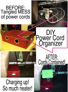 DIY Easy Clever power cord organizer !