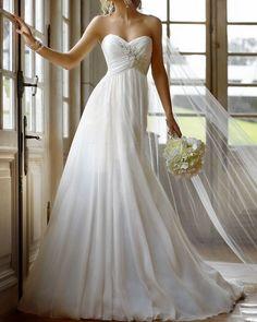 2013 latest beaded chiffon wedding dresses bridal gowns free shipping
