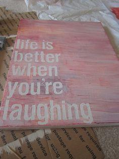 diy canvas... Love this idea!