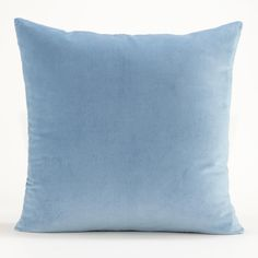 Adriatic Blue Velvet Throw Pillow Collection   World Market - great texture