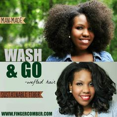 "There are so many ways to rock your WASH&GO wefted hair! It's both affordable, and re-usable! After you've rocked it kinky, you can give it new life by flat-ironing it. You don't need any fancy tools or products either. We simply used a Conair flat iron from Target set on it's highest setting of ""25"". Do a strand test to determine the best temperature for your iron or wand. Enjoy!"